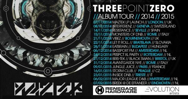 Maztek Three Point Zero Album Tour